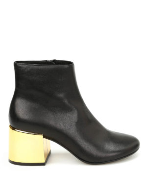 MM6 Maison Margiela: ankle boots - Laminated maxi heel detail booties