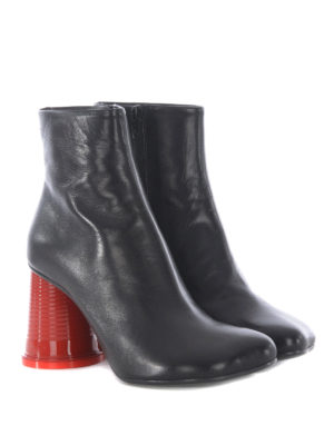 MM6 Maison Margiela: ankle boots online - Glass-shape heeled ankle boots