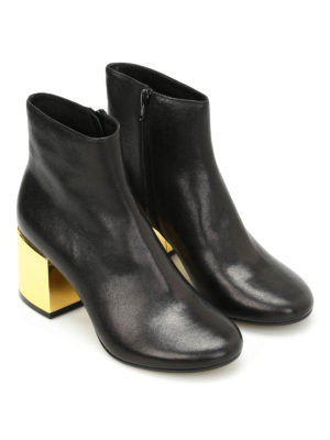 MM6 Maison Margiela: ankle boots online - Laminated maxi heel detail booties