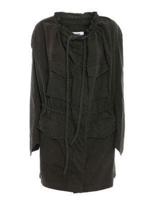 MM6 Maison Margiela: casual jackets - Canvas jacket with drawstring