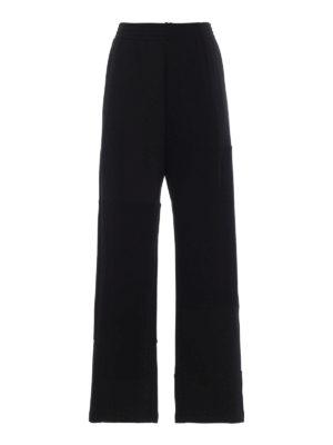 MM6 MAISON MARGIELA: pantaloni casual - Pantaloni in jersey patchwork neri