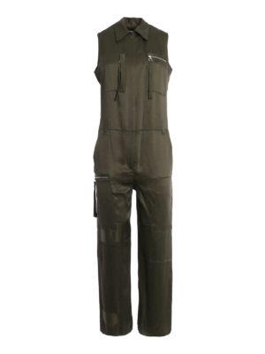 MM6 Maison Margiela: jumpsuits - Cady viscose zipped jumpsuit