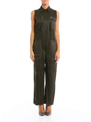 MM6 Maison Margiela: jumpsuits online - Cady viscose zipped jumpsuit