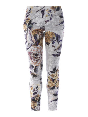 MM6 Maison Margiela: leggings - Floral chenille leggings
