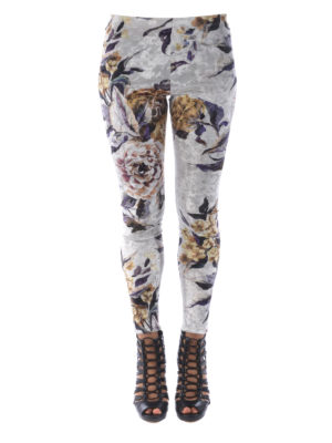 MM6 Maison Margiela: leggings online - Floral chenille leggings