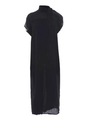 MM6 Maison Margiela: maxi dresses - Cut-out sleeve layered midi dress