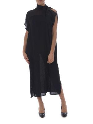 MM6 Maison Margiela: maxi dresses online - Cut-out sleeve layered midi dress