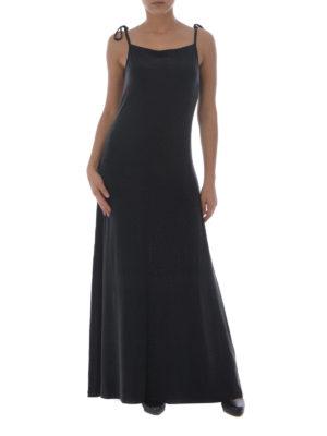 MM6 Maison Margiela: maxi dresses online - Straight line design cupro dress