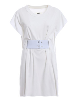 MM6 Maison Margiela: short dresses - Belt detail short dress