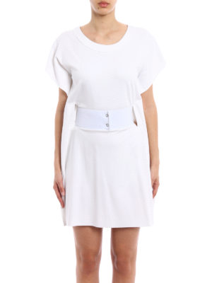 MM6 Maison Margiela: short dresses online - Belt detail short dress