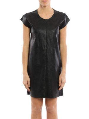 MM6 Maison Margiela: short dresses online - Faux leather oversize dress