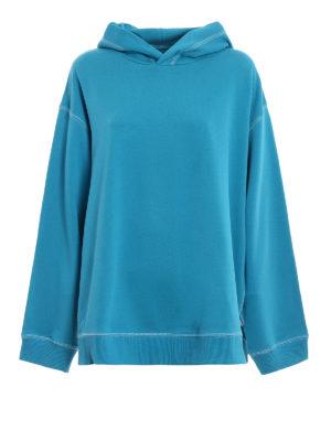 MM6 Maison Margiela: Sweatshirts & Sweaters - Exposed stitchings over hoodie