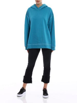 MM6 Maison Margiela: Sweatshirts & Sweaters online - Exposed stitchings over hoodie