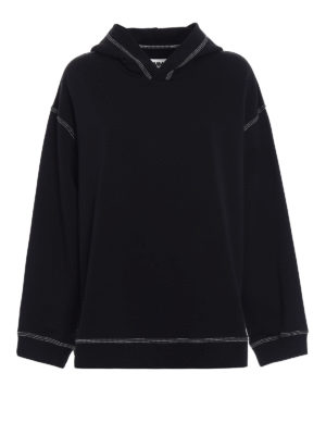 MM6 Maison Margiela: Sweatshirts & Sweaters - Visible stitchings over hoodie