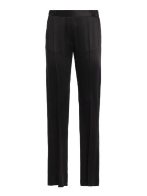 MM6 Maison Margiela: Tailored & Formal trousers - Satin pull-on trousers