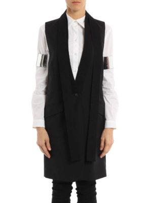 MM6 Maison Margiela: waistcoats & gilets online - Sleek long wool waistcoat