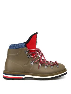 MONCLER: tronchetti - Stivali Henoc da trekking in gomma