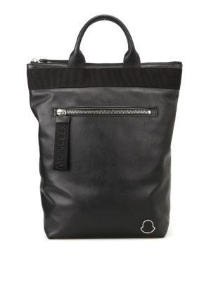 Moncler: backpacks - Cerro leather backpack