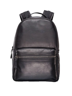 Moncler: backpacks - George leather backpack