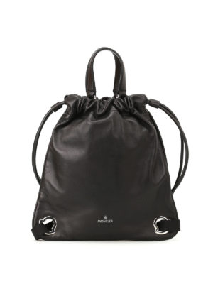 Moncler: backpacks - Kinly MM leather backpack