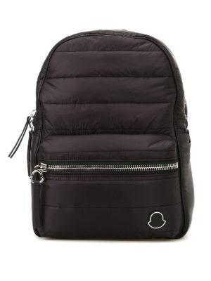 Moncler: backpacks - New George black nylon backpack