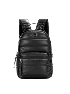 Moncler: backpacks - New Georgette black nylon backpack