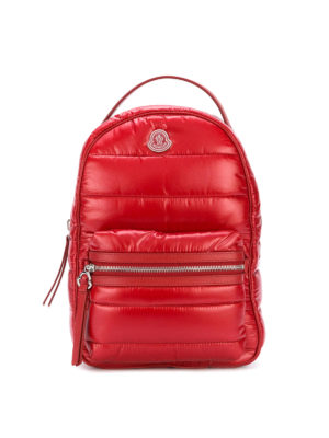 Moncler: backpacks - New Georgette red nylon backpack