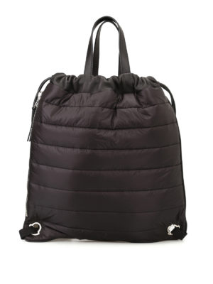 Moncler: backpacks - New Kinly black nylon backpack