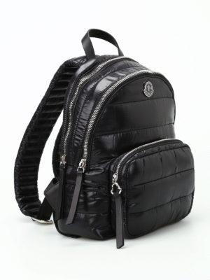 Moncler: backpacks online - Kilia glossy nylon padded backpack