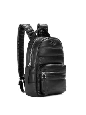 Moncler: backpacks online - New Georgette black nylon backpack