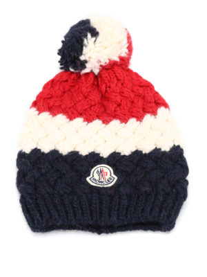 Moncler: beanies - Braid knitted beanie