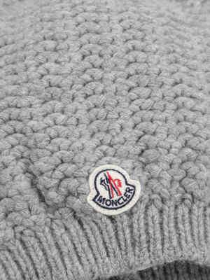 Moncler: beanies online - Fox fur pom-pom hat