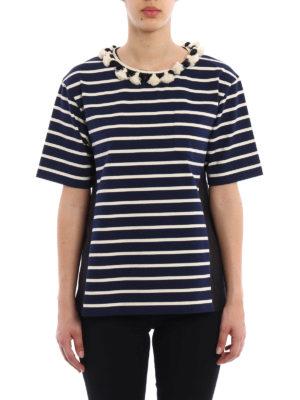 Moncler: blouses online - Striped cotton blouse