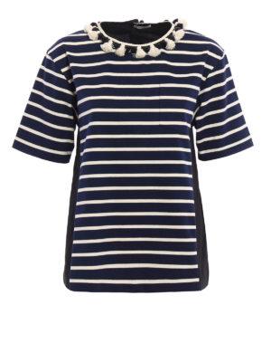 Moncler: blouses - Striped cotton blouse