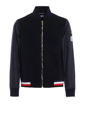 Moncler: bombers - Cotton pique and nylon bomber