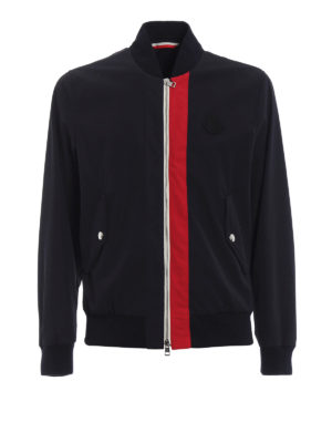 Moncler: bombers - Joey tricolour detail bomber jacket