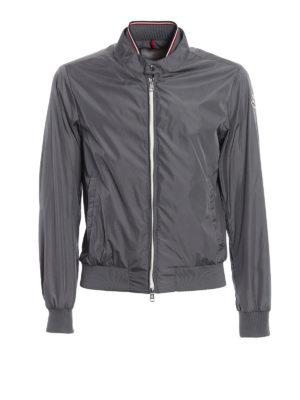 Moncler: bombers - Miroir grey bomber jacket