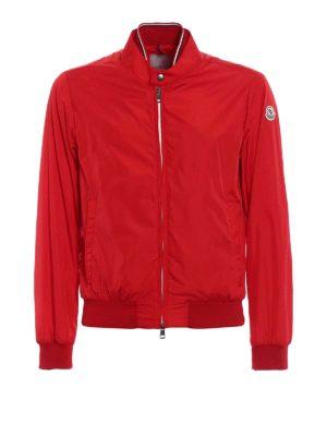 Moncler: bombers - Miroir red nylon bomber jacket