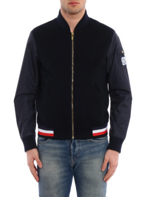 Moncler: bombers online - Cotton pique and nylon bomber
