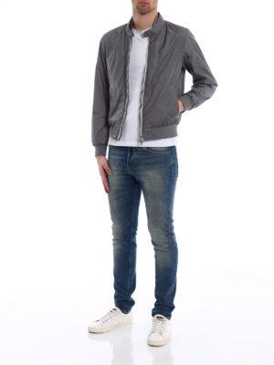 Moncler: bombers online - Miroir grey bomber jacket