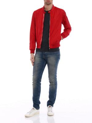 Moncler: bombers online - Miroir red nylon bomber jacket