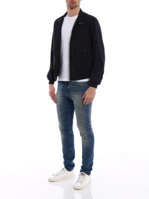 Moncler: bombers online - Verte dark blue bomber jacket