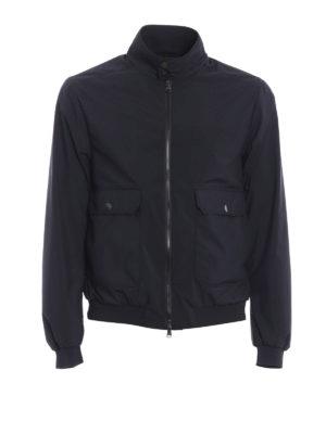 Moncler: bombers - Verte dark blue bomber jacket