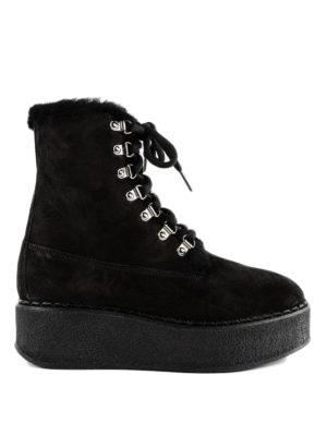 MONCLER: stivali - Stivaletti Melusine in camoscio