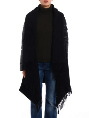 Moncler: Capes &  Ponchos online - Wool cape with padded nylon sleeves