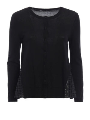 Moncler: cardigans - Broderie anglaise gusset cardigan