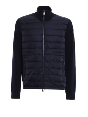 Moncler: cardigans - Front padded tricot cardigan