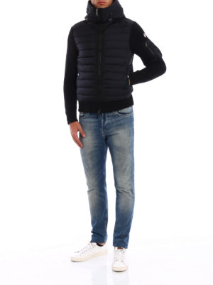 Moncler: cardigans online - Front padded tricot cardigan