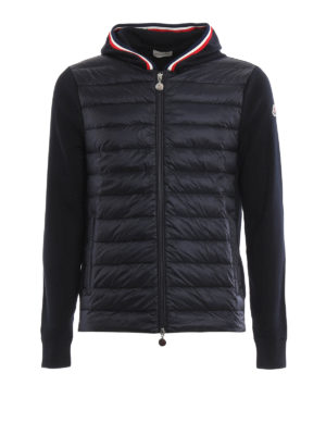 Moncler: cardigans - Padded front hooded cardigan