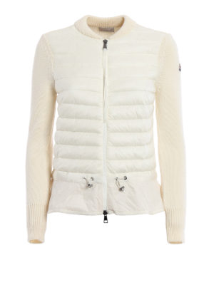 Moncler: cardigans - Padded nylon front zip cardigan